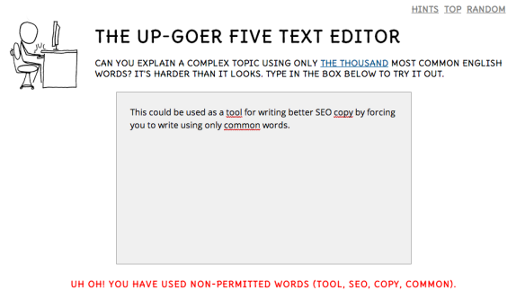 The Up-Goer Five Text Editor