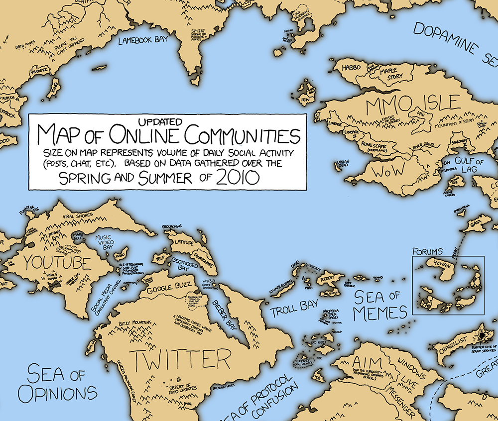Xkcd online communities 2 detail halfblog published 21 january 2013 at 1000 846 in the infographics of xkcd gumiabroncs