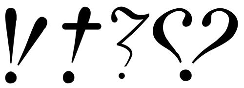 Hervé Bazin's punctuation marks