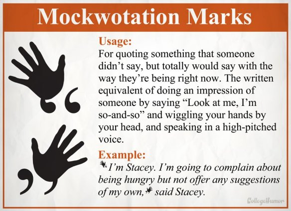 Mockwotation marks
