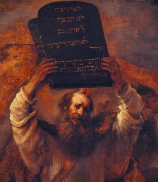 Rembrandt — Moses with the Ten Commandments