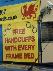 Free handcuffs with every bed frame