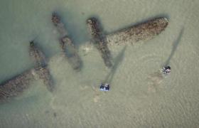 Lockheed P38 Lightning found on a beach in Wales